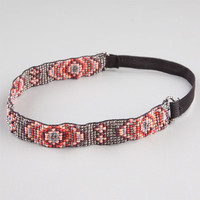 Full Tilt Seed Bead Headband Coral One Size For Women 23459131301