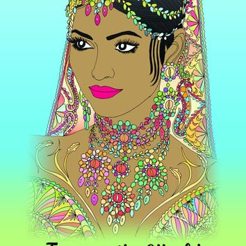 Faces of the World: Adult Coloring Book