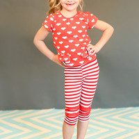 Hearts and Stripes Set - Ryleigh Rue Clothing by MVB