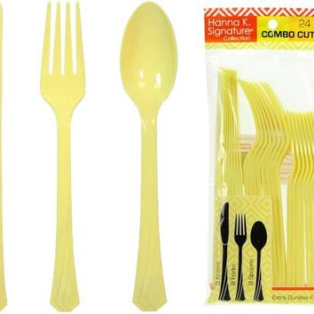 yellow heavyweight cutlery combo 24-packs Case of 24