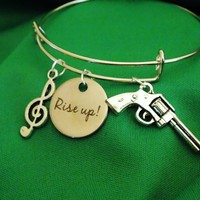 Hamilton Rise Up! Charm Bangle. Adult One Size Fits Most.