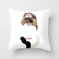 Audrey Throw Pillow by Bethany Mallick