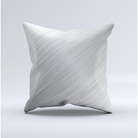 Silver Brushed Aluminum Surface Ink-Fuzed Decorative Throw Pillow