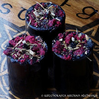WITCHES CABAL Circle of Thirteen Soy Pillar Votive Candles for Enlightenment, Receiving Power, Raising Power, Magnifying Power, Spellcasting