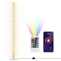 DEWENWILS WiFi Smart RGBW Color Changing Floor Lamp with Remote Control, Works with Alexa, Google Home, Modern Dimmable Led Corner Standing Tube Lamps for Living Room, Bedroom, Max 2688LM Bright Light