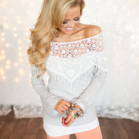 Truly Amazing Lace Sweater Top