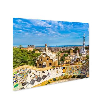 Metal Panel Print, Park Guell In Barcelonspain