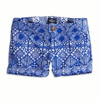 AEO FACTORY PATTERNED MIDI SHORT