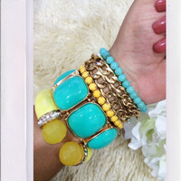Fairy Dust Arm Candy- Mint/ Yellow