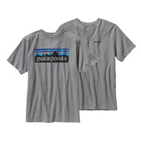 Patagonia Men's P-6 Logo T-Shirt | Gravel Heather