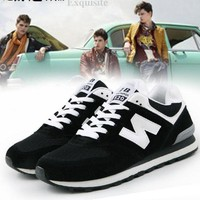 DCCKGQ8 new balance fashion able women men comfortable leisure sports shoes black