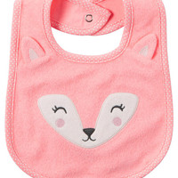 Neon Fox Teething Bib