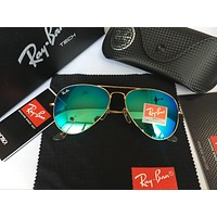 Ray-Ban RB 3025 Aviator 112/4L Matte Gold Polarized Sunglasses