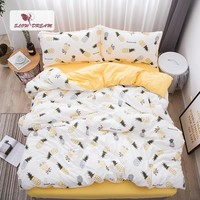Cool SlowDream Pineapple Bedding Set Nordic Comforter Bedspread Double Bed Sheet Set Duvet Cover Queen King Adult Bed Linens SetAT_93_12