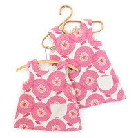 Smock Dress for toddlers - Flower Fields in Rosy
