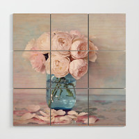 English Roses Wood Wall Art by sylviacookphotography