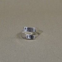 Sterling silver fuck it bypass ring