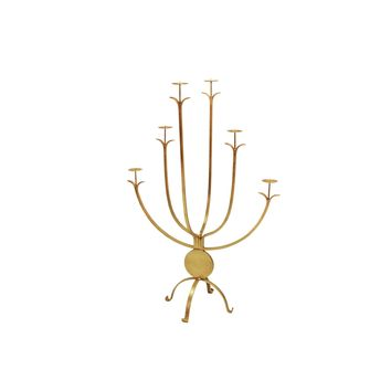 Alonso Large Gold Candle Holder by Worlds Away