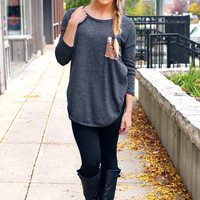 Touch of Sparkle Tunic - Charcoal