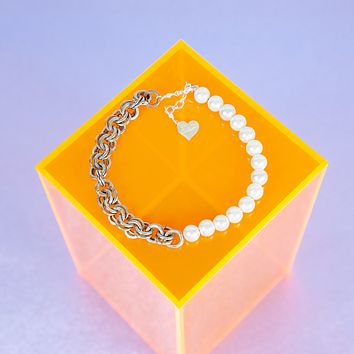 50/50 Pearl Chain Anklet