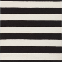 Frontier Collection 100% Wool Area Rug in Jet Black and White design by Surya