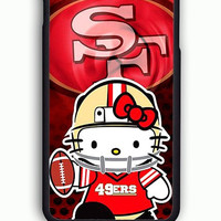 iPhone 6 Case - Rubber (TPU) Cover with 49ers Hello Kitty Rubber Case Design
