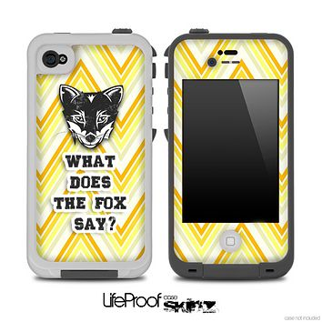 What Does the Fox Say Yellow V1 Chevron Skin for the iPhone 5 or 4/4s LifeProof Case