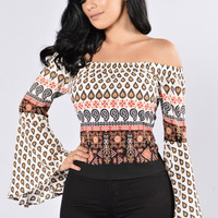 Gypsy Heart Top - Mustard