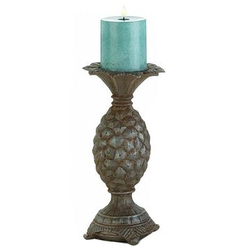 Pineapple Pillar Candle Holder - 10.5 inches