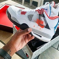 Nike Air Jordan 4 Retro Hot Sale Men Leisure Sport Running Basketball Shoes Sneakers
