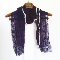 Mothers day, Purple Fashion lace scarf, Trends scarf, Spring scarf, New collection