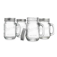 Del Sol™ Original Mason™ 4-Piece 16-Ounce Drinking Jar/Mug Set