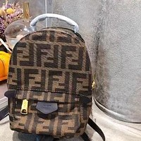 Fendi canvas simple and versatile men and women backpack