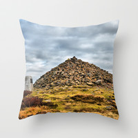 Beamsley Beacon  Throw Pillow by Karl Wilson Photography