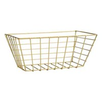 Large metal wire basket - Gold - Home All   H&M CA