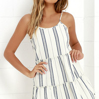 Element Eden Artus Ivory Striped Dress