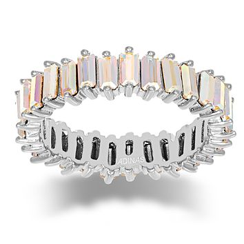 Crystal Iridescent Eternity Band