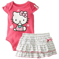 Hello Kitty Heathered Infant Girls Skirt Outfit