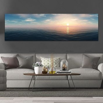 wall picture canvas painting landcape art  print and posters see sunreise picture  wall art Painting decoration for living room