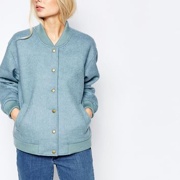 Ganni Inglewood Blue Bomber Jacket