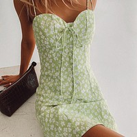 2020 new arrival women's sexy lace-up breasted halter dress