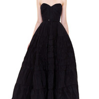 Rochas Strapless Silk Faille Gown by Rochas Now Available on Moda Operandi
