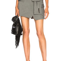 Alexander Wang Asymmetric Tie Front Skirt in Grey | FWRD