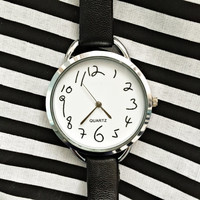 Messy Numbers Slim Womens Watch, Wrist Watch, Minimalist , Watches Women, Leather Bands Ladies Jewelry Bracelet  2016 Unique Gifts, Simple