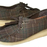 Clarks Originals Wallabee Brown Plaid Shoes Womens