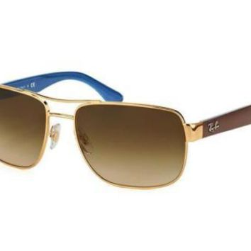 NEW Genuine Ray Ban RB3530 00113 58 Gold Mens Sunglasses Glasses