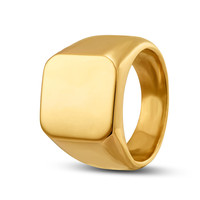 Fashion Men's High Polished Signet Solid ring 316L Stainless Steel Ring for men Men's Jewelry
