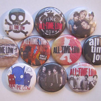 All Time Low Pinback Button Badge Pin (pack of 10)
