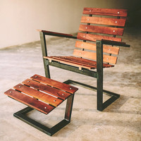 East Polk Lounger, handcrafted, rustic modern, chair