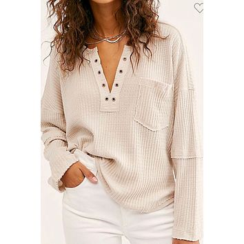 Warm Thoughts Top- Cream